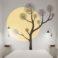 Pine Tree Wall Decal Large Size Wall Decals Art Bedroom Wall Stickers Tree Wall Murals Removable Vinyl Custom Colors Hot LC1430