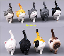 9pcs of One Set mini cat kawaii ACTOYS Japan Anime Lovely Bells Cat Holiday Gift action figure collectible model toys for kids
