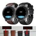 Ремешок кожаный для Samsung Galaxy watch 3 45 мм/46 мм/42 мм/Active 2 Gear S3 Frontier 20 мм/22 мм, браслет для Huawei GT/2/2e 46 мм
