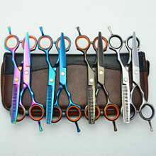 5.5 Inch Professional Hairdressing Scissors Thinning Barber Scissor Set Cutting Scissors 440C Japan Steel Hair Scissors Kit Gift