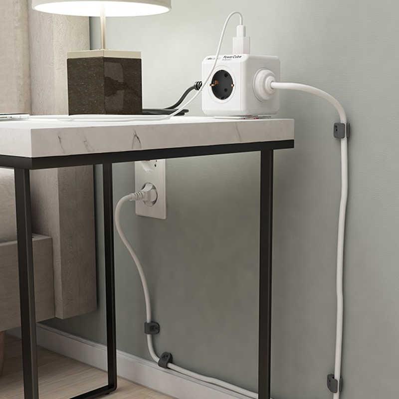 Allocacoc Powercube ue wtyczka listwa zasilająca 4 wtyczka AC Adapter podróżny 3680W wielu smart 2 Port USB gniazdo ładowarki 1.5m 3m dla domu
