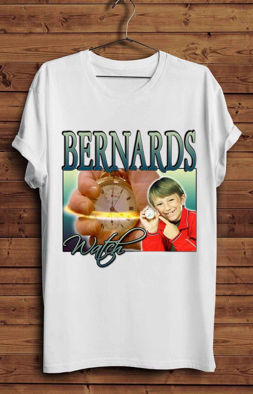 Bernards Orologio T Shirt Vintage Divertente Omaggio 90s TV Show Retro CBBC Tempo