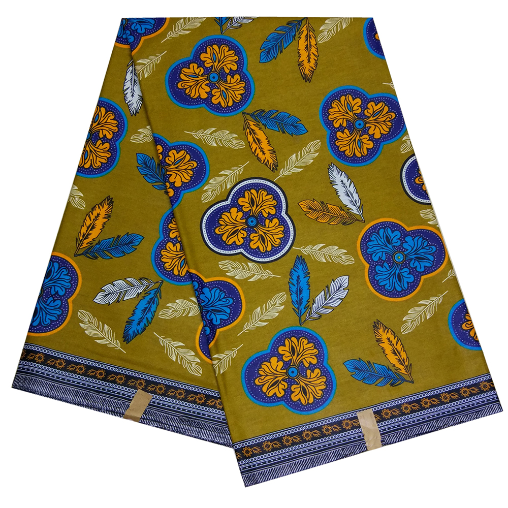 2019 Latest 100% Cotton African Wax Print Fabric Ankara Nigerian Printed Wax Fabric For Dress