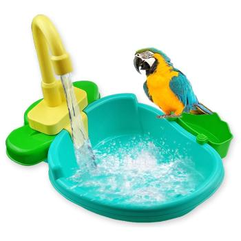 New Bird Feeder Automatic Parrot Bath Tub Swimming Pool Faucet Parrot Bath Shower Water Dispenser Bird Cage Bathroom Parrot Toy bird feeder automatic parrot bathtub swimming pool faucet parrot bath shower water dispenser bird cage bathroom pet parrot toys