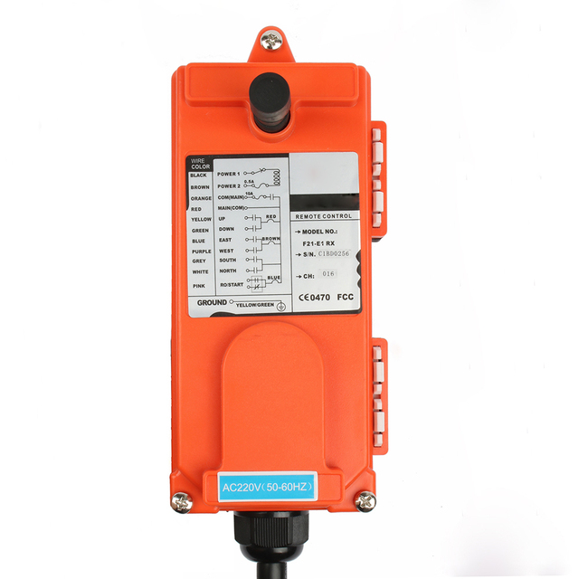 220V 380V 110V 12V 24V Industrial remote controller switches Hoist Crane Control Lift Crane 1 transmitter + 1 receiver F21-E1B 10