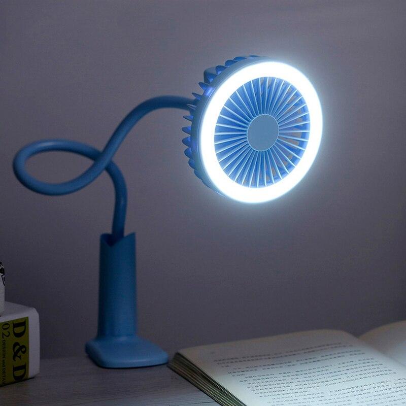 Перезаряжаемый на 360 градусов портативный мини-вентилятор со светодиодным вентилятором портативный ручной вентилятор крутой ветер для офиса и путешествий