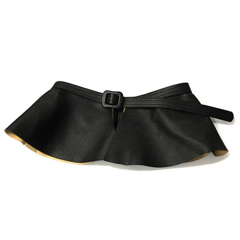 Новинка 2020, трендовая Женская широкая Золотая черная Корсетная юбка с поясом, женская модная юбка с рюшами, баска, пояс на талии, широкие пояса для женщин, платье