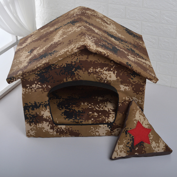 Comfortable kennel cotton dog tent camouflage outdoor pet house