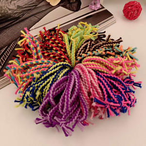 Hair Styling Tool Cord Hair Knitting Braided Rope Headband Design Double Layer Elastic Hair Accessories For Girls DIY Ponytail