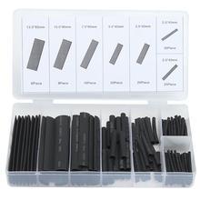 Многоцветные/черные полиолефиновые термоусадочные трубки в ассортименте, набор термоусадочных трубок для изоляции проводов и кабелей