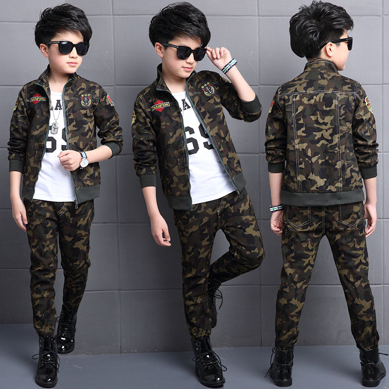 Boys Clothing Set Kids Tracksuit Spring And Autumn Camouflage Long-sleeve + Pants Suit Military Uniform Kids Clothes For Boys