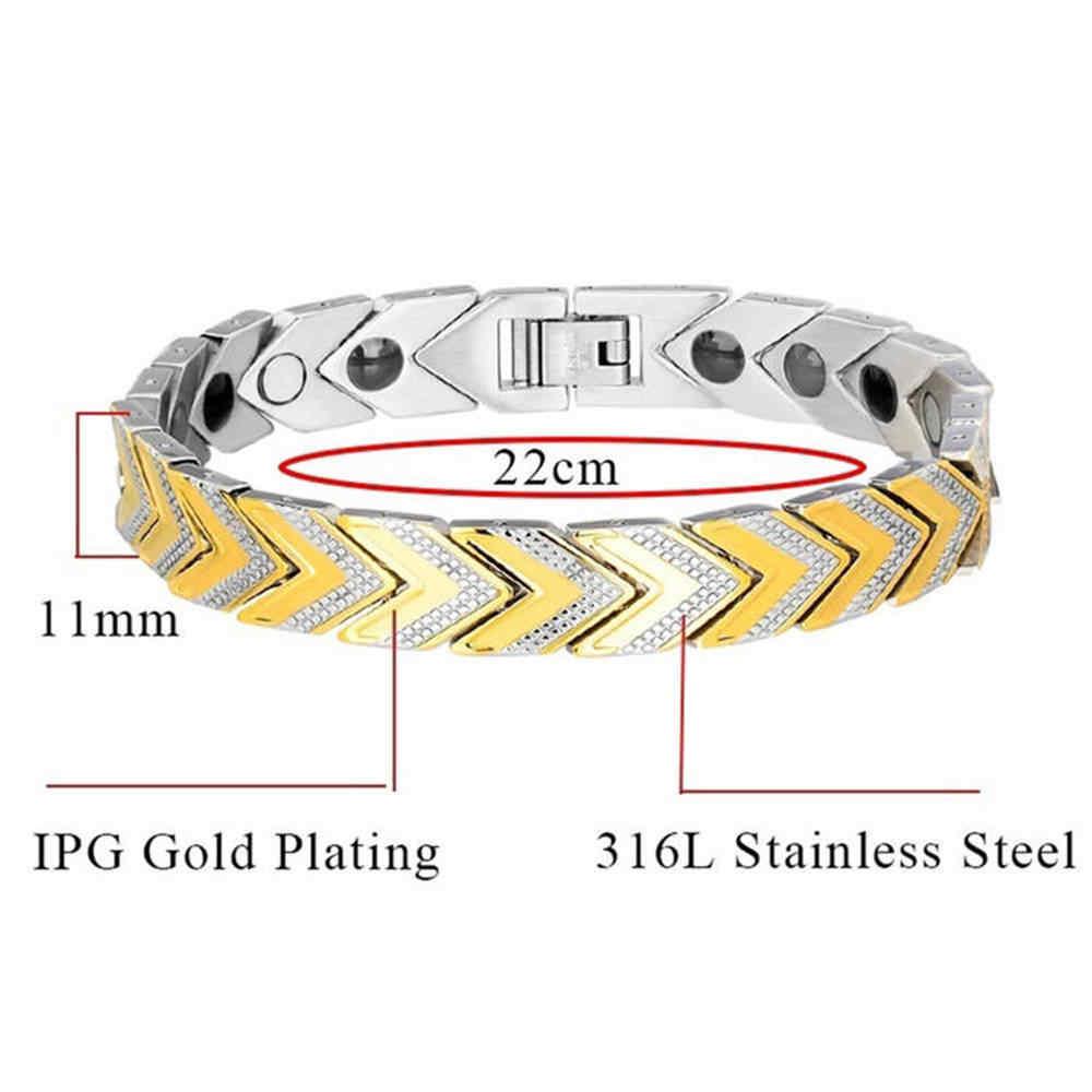 ツイストのための健康的なステンレス鋼磁気ブレスレット療法磁石マグネタイトブレスレット腕輪男性ヘルスケアの宝石