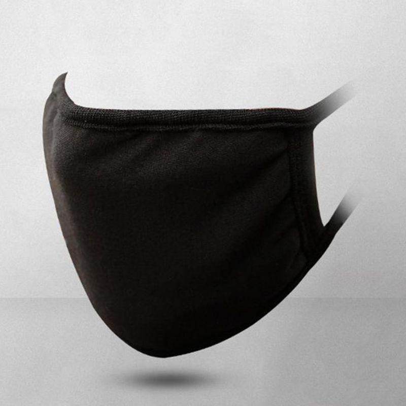Unisex Black Mouth Mask Washable Cotton Anti Dust Protective Reusable 3 Layers Q0KD