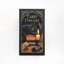 Tarot familiars cards lisa parker jogo de tabuleiro baralho espanhol adivinhação jogo 78 cartas tarô decks