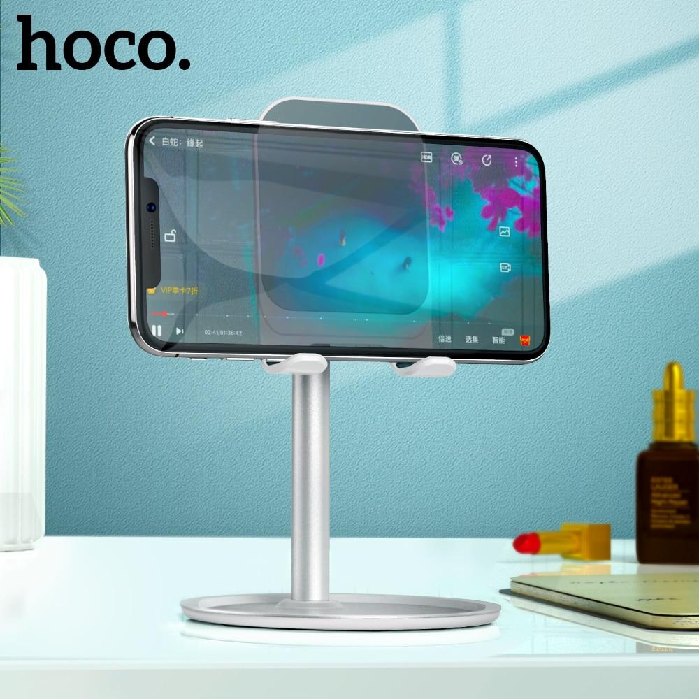 Hoco Handy Halter Stehen für iPhone X XS iPad Air Smartphone Metall Schreibtisch Desktop Telefon Halterung für Xiaomi huawei Tisch