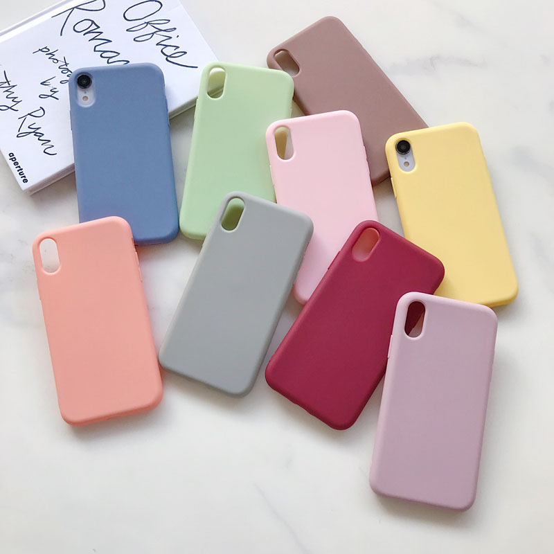 Candy Case For iPhone 11 12 Pro XR X XS Max 7 8 6s 6 Plus 5S 5 SE 2020 Silicone Cover Shell Case For Apple iPhone 11 12 Pro Max