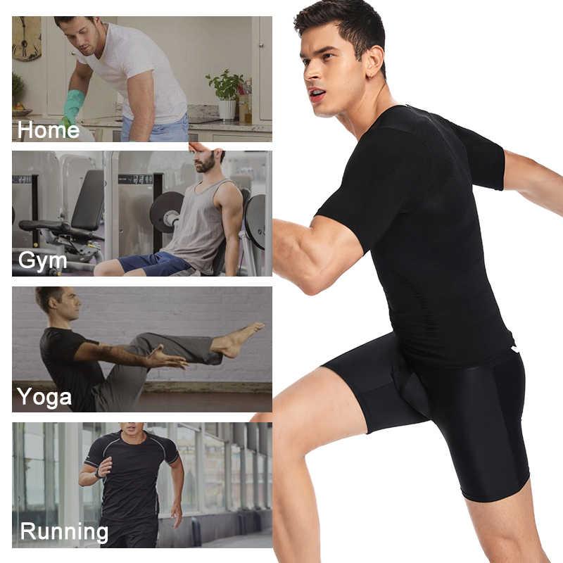 Erkek vücut şekillendirici zayıflama gömlek sıkıştırma yelek elastik ince iç çamaşırı Shapewear