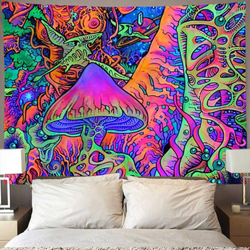 Cheap Mandela Wall Hanging Tapestry Psychedelic Moon Wall Cloth Tapestries Rug Hippie Home Decor Free Decoration Accessories