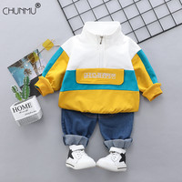 Baby Boy Clothing Set Kids Casual Sport Outfit Long Sleeve T-Shirt + Jeans 2PCS Toddler Boys Autumn Sets Infant Clothes