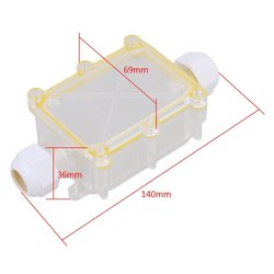 Прозрачный 2 способ наружный кабель провода разъемы распределительная коробка IP68 Водонепроницаемый солнцезащитный с терминалом