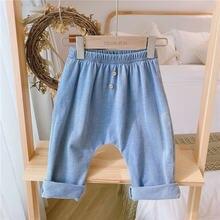 Мягкие джинсы для младенцев от 0 до 4 лет Новинка 2020 года