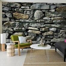 Пользовательская 3D фотография каменная кирпичная стена в деревенском стиле роспись комната пожилых тисненые самоклеящиеся обои для улучш...