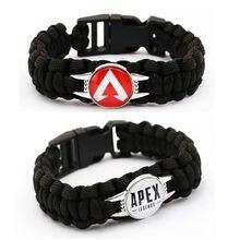 Новая игра apex легенды браслет для мужские черные с веревкой