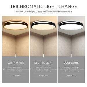 Image 3 - LED תקרת אור 72W 36W למטה אור משטח הר פנל מנורת AC 220V 3 צבעים שינוי מודרני מנורת לעיצוב בית תאורה