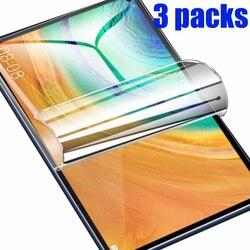 3-пакеты PET мягкая защитная плёнка для экрана для Huawei matepad T, 8, 10, 10S T10 T10s T8 10,4 pro 10,8 защитная пленка