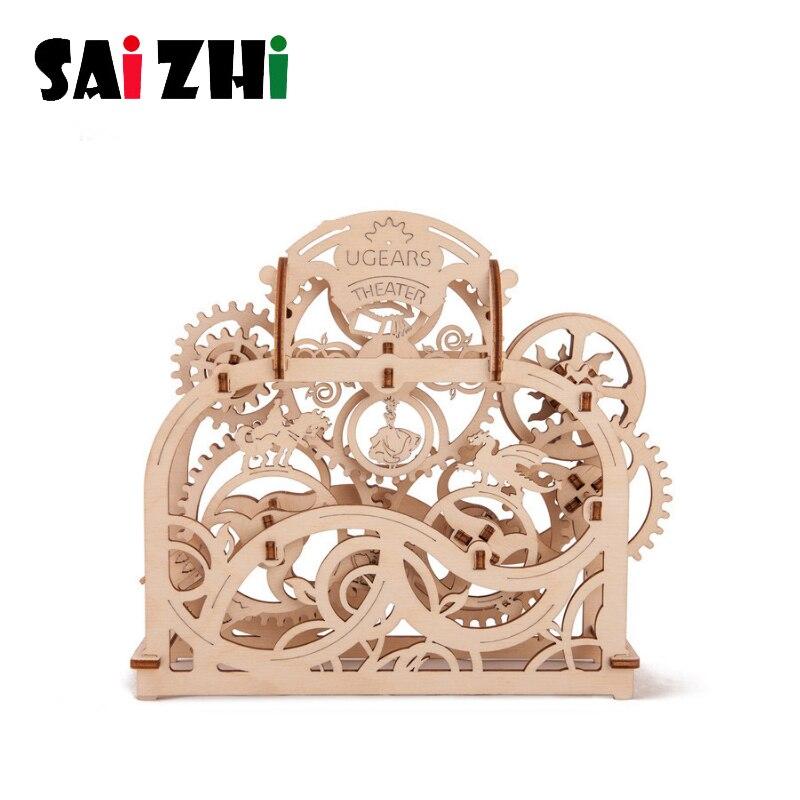 Saizhi bricolage découpe Laser 3D modèle mécanique en bois Puzzle jeu assemblage jouet cadeau pour enfants Transmission mécanique SZ4210
