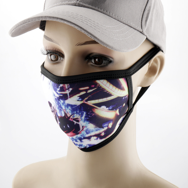 Anime Printed Mask Naruto/Tokyo Ghoul/Attack on Titan Mask Reusable Face Shield Breathable mask 5