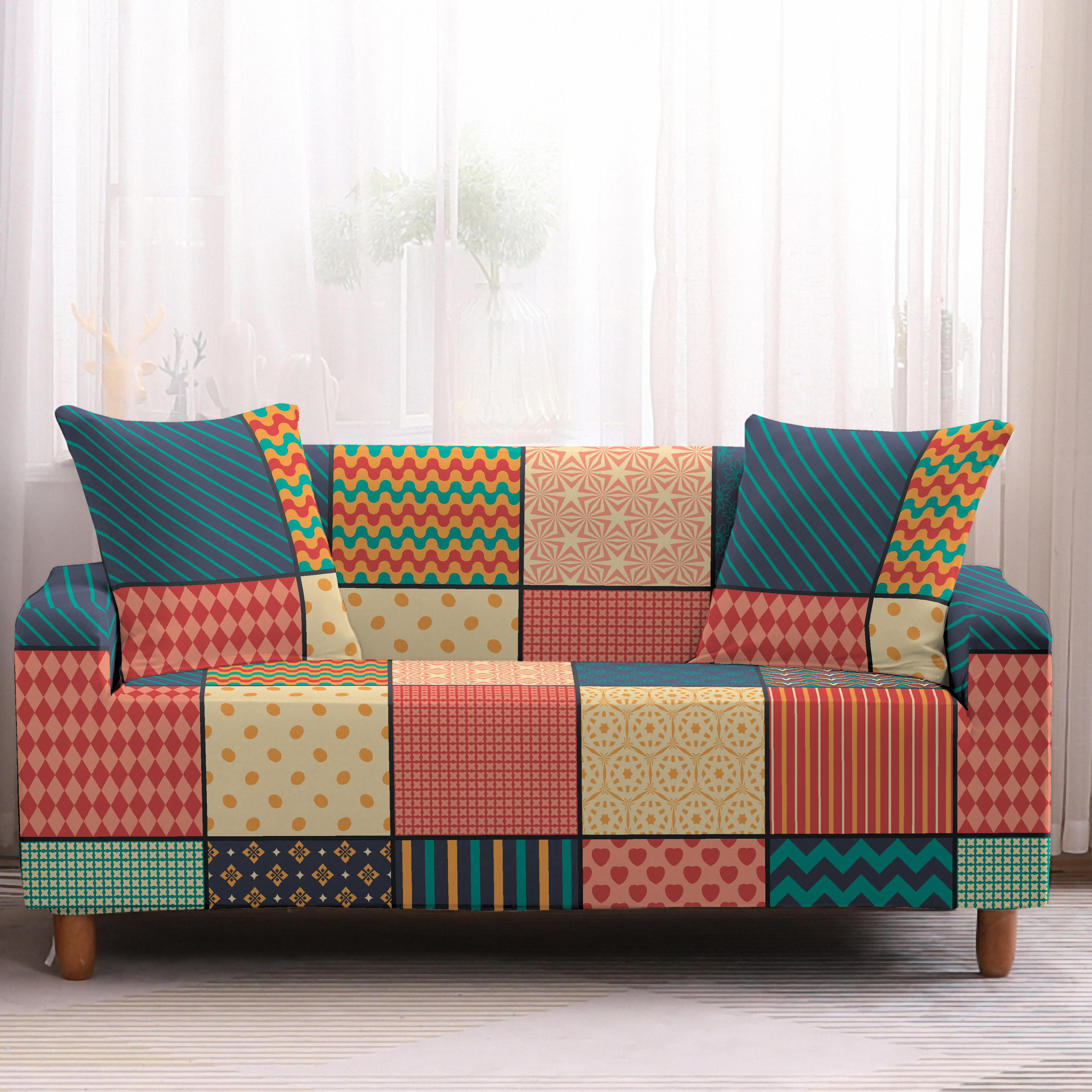 Homesky Geometric Sofa Cover Stretch Nordic Slipcovers Sectional Couch Corner Cover Sofa Covers For Living Room Buy At The Price Of 4 83 In Aliexpress Com Imall Com