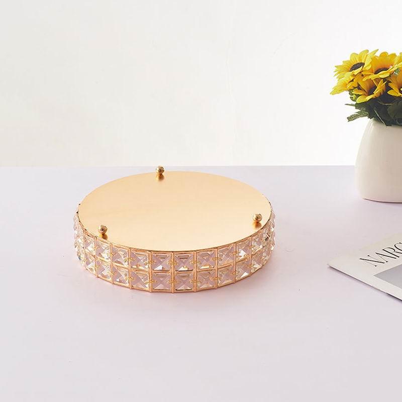 Fairy dim-présentoir à gâteaux en cristal doré   Miroir présentoir à Cupcake, plateau de maquillage, outils de rangement pour événement mariage, anniversaire, maison, plateau de rangement, décor - 3