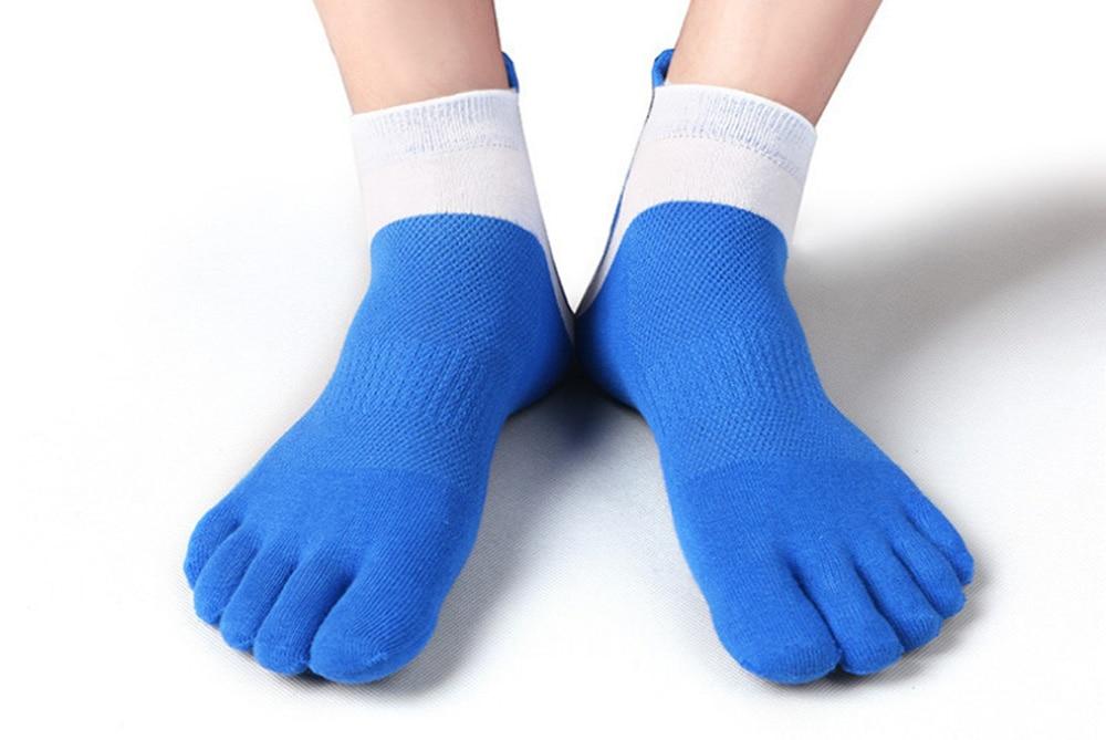 38-43 Men Outdoor Sports Bicycle Socks 1Pair Breathable 5 Finger Toe Slipper Sock Coolmax Pro Cycling Running Socks BC0337 (15)