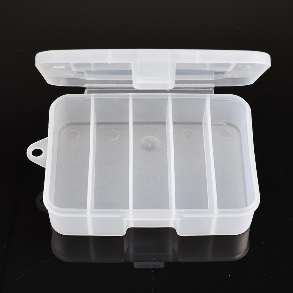 Caja de accesorios para pesca al aire libre, compartimentos de plástico para aparejos de pesca, caja de almacenamiento para aparejos de anzuelo de pesca, contenedor 1008