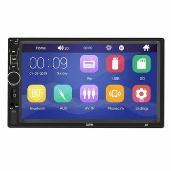2 Din Car Radio Autoradio Universal Car Multimedia MP5 Player HD Bluetooth Usb Flash Drive Phone Interconnect MP3 Player Radio image