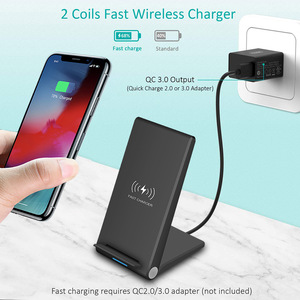 Image 2 - FDGAO 15W Qi Quick Wireless Charger Stand For iPhone 11 Pro X XS Max XR 8 Samsung S10 S9 Note 9 10 Wireless Charge Dock Station