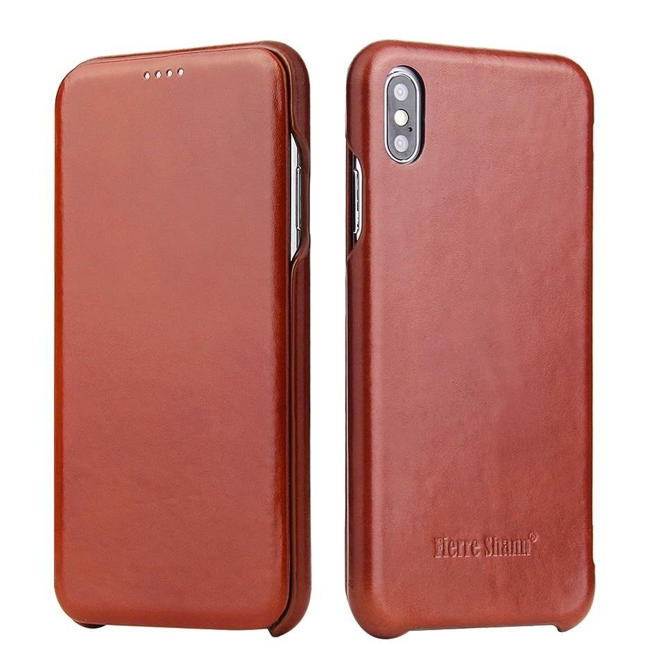 100% чехол из натуральной кожи с откидной крышкой для Apple IPhone X XS Max XR, роскошные чехлы с бесплатной подарочной защитной пленкой для экрана Чехлы-книжки      АлиЭкспресс