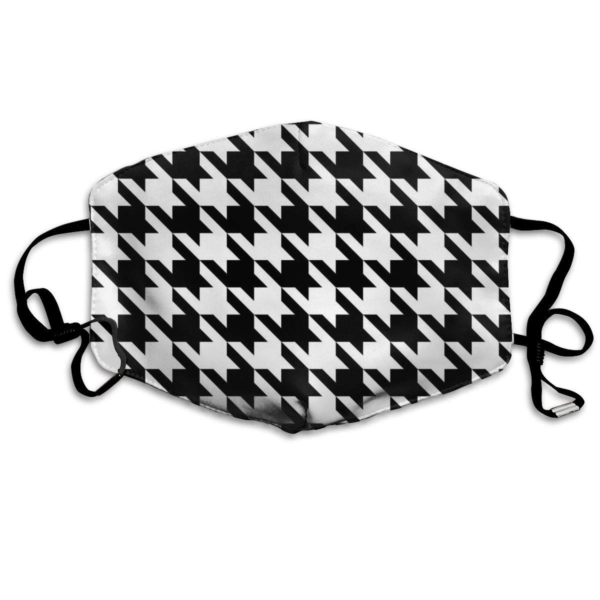 Mouth Mask Black And White Houndstooth Fashion Earloop Face Mask For Kids Teens Men Women Winter Summer