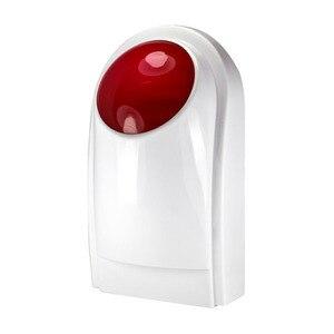 Mini Alarm Horn Strobe Sensor 433mhz Wireless Strobe Siren for GSM Standalone Hotel Home Security Alarm Panel System(China)
