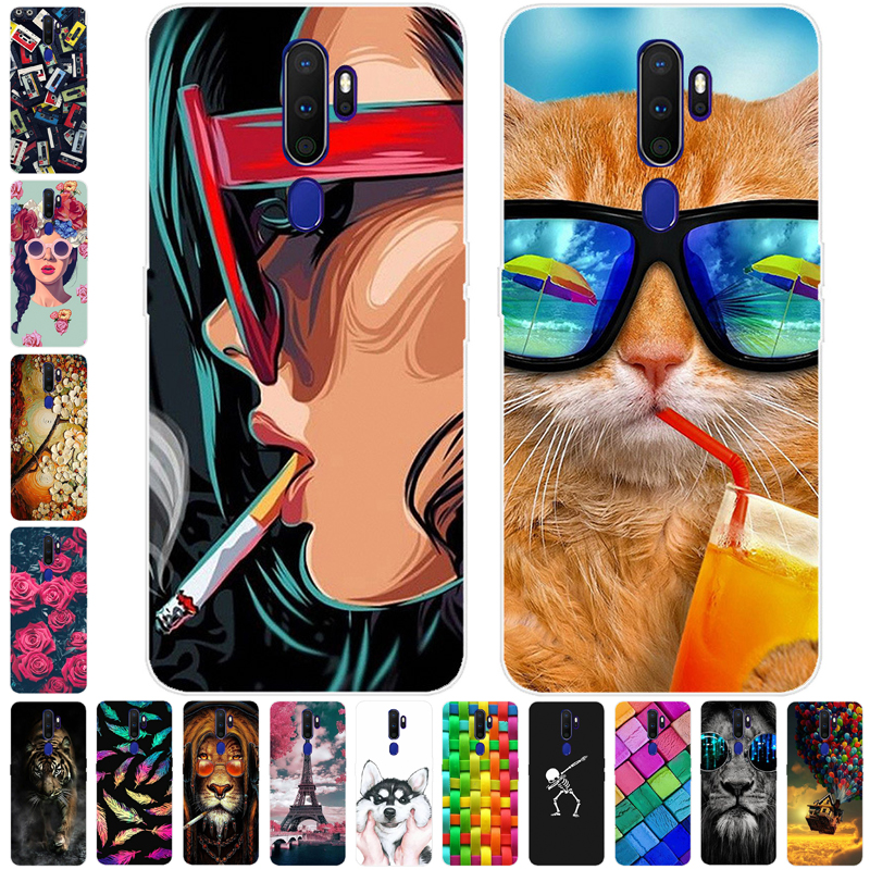 For <font><b>Oppo</b></font> A9 2020 <font><b>Case</b></font> Silicone TPU Soft Back Cover <font><b>Phone</b></font> <font><b>Case</b></font> For <font><b>Oppo</b></font> <font><b>A5</b></font> 2020 <font><b>Case</b></font> Fundas for OPPOA9 OPPOA5 2020 A 9 Coque A 5 image