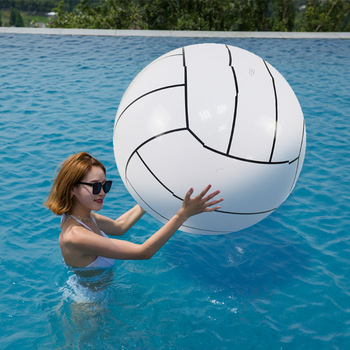 Inflatable Beach Ball Volleyball 80cm Adult Children's Water Games Toy Ball Paddling Beach Ball Water Toys wb002 benao 3m inflatable zorb wall colourful inflatable water roller glow lights in dark water rolling ball for water games