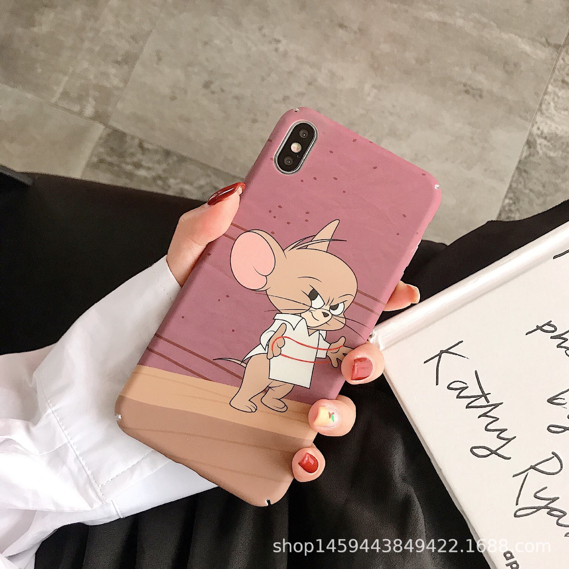 For <font><b>IPhone</b></font> X XS XR XSMax <font><b>8</b></font> 7 6 6S PluS All-inclusive Hard Shell Drop Protection Cover Childhood Fun Cute <font><b>Mickey</b></font> <font><b>Mouse</b></font> Phone <font><b>Case</b></font> image