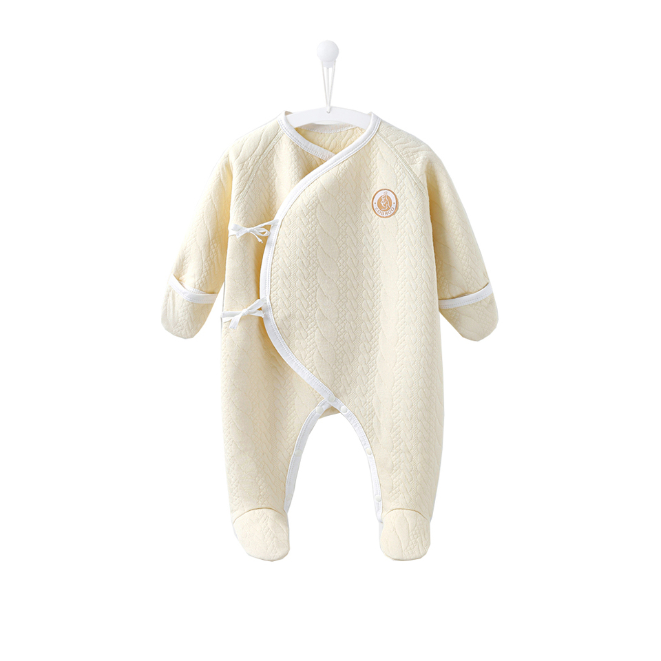 COBROO 100/% Cotton Newborn Footie Pajamas with Mittens Side-Belt Infant Footed Sleeper Cozy Warm Baby Outfits 0-6 Months