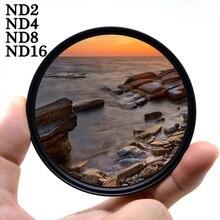Filtro para fotografia knightx nd2 4 8 16, para canon sony, nikon, 1300d, 60d, 500d, 200d, 2000d, dslr, 49, 52 55 58 62 67 72 77 mm