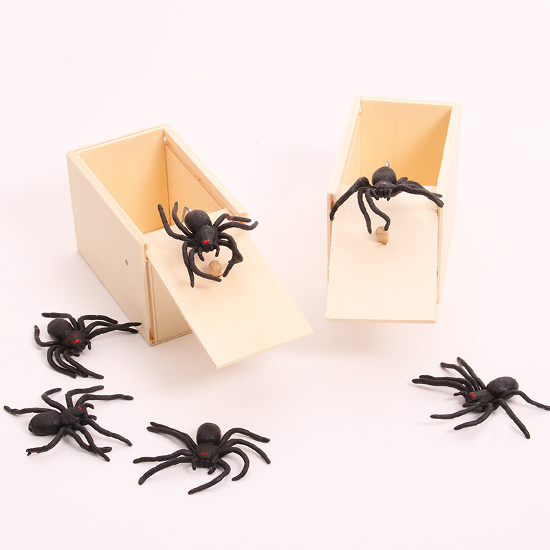 Prank Scare Spider Funny Toys Practical Joke Gag Prank Funny Trick Fun Gadget April Fool Toy Spider Box Prank Toys