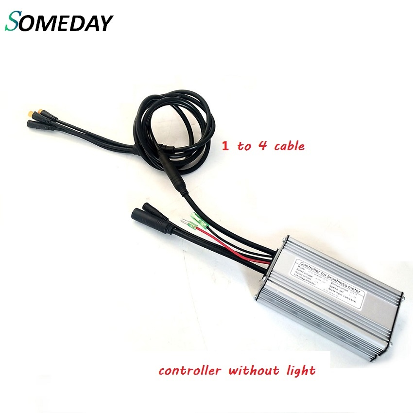 SOMEDAY Ebike KT36V/48V 14A/15A/17A/22A Kunteng 24V 20A Standard Square Wave Controller With 1 To 4 Cable Waterproof Plug