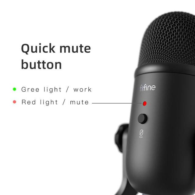 USB microphone for recording / streaming / gaming, professional microphone for PC