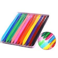 Mode 36 couleurs Crayons triangulaires sans danger Non toxique triangulaire crayon à colorier pour les étudiants enfants enfants EM88