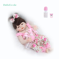 reborn doll 55CM complete silicone realistic doll can bathe bebe reborn fashion princess toy